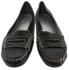 New MERONA Women Black Flat Loafer Moccasin Casual Comfort Slip On Shoe Sz 7.5 M