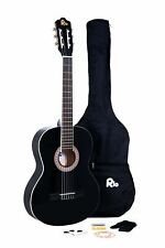 RayGar 39'' 4/4 Full Size Acoustic Nylon Classical String Guitar Package - Black