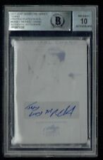 Michael Chang 1/1 signed autograph 2017 Leaf Tennis Black Plate BAS Slab Auto 10