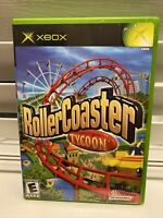 RollerCoaster Tycoon for Microsoft Xbox Complete w/ Case & Manual Roller Coaster