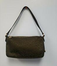 Vintage Longchamp Signature Bag Single Shoulder Strap Leather Black