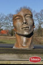 SKULPTUR Portrait MANN KLEIN Steinguss ROSTEFFEKT H57cm 20kg Gesicht Gartenfigur