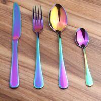 Rainbow Wedding Travel Cutlery StainleSteel Dinner   Fork_Scoop