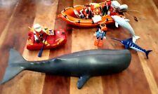 Playmobil Lote animales ballena delfin pez espada zodiac rescate buzo 3649 4489