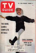 1966 TV Guide January 1 - FBI; Carol Channing; David Brinkley in Wilmington NC