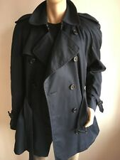 BURBERRY MENS XXL 44-46 DOUBLE BREASTED VINTAGE TRENCH COAT RAINCOAT JACKET