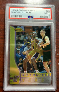 1997-1998 Bowmans Best Shaquille O'Neal Lakers #70 Basketball PSA 9 PMJS 22