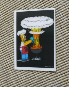 The Simpsons Magical Motion/Holographic Card - Homer cooking- (Panini)