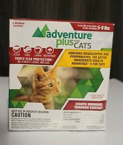 Promika Adventure Plus Flea Protection for Cats 8 weeks & older 5-9 lbs 4 month