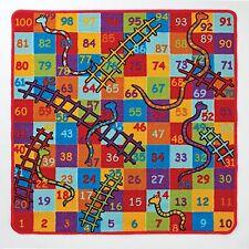 1m x 1m Kids Snakes & Ladders Play Mat Rug Bedroom Childrens Numbers Board Game