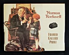"""New in Box Norman Rockwell Framed Gallery Print """"Doctor and the Doll"""""""