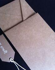 20 Envelopes QUALITY Kraft Recycled Brown DL Size Natural Envelope