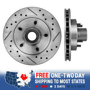 Front Drilled And Slotted Brake Rotors For Chevy S-10 GMC Jimmy Sonoma 2WD