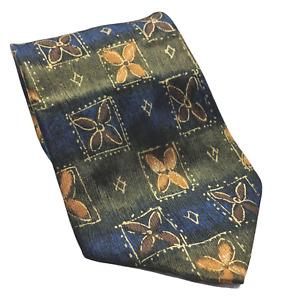 Jos A Bank Premier Blue Green Floral Silk Novelty Necktie