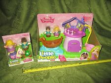 Fisher Price Little People Disney Princess Rapunzel Tower Flynn Friends Maximus