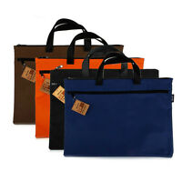 A4 Size Zipper Briefcase Document File Holder Organizer Office Canvas Tote #UK