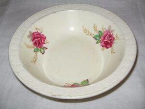 Royal Tudor Ware Barker Bros Ltd England Pink Roses Bowl Richmond Shape 18cm Wid