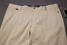 NIKE GOLF Mens Khaki & White Stripe Seersucker Modern Fit Pants NWT 28 x 32  $95