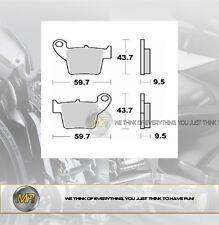 HONDA HM CRE R SUPERMOTARD 125 DAL 2002 AL 2006 PASTIGLIE FRENO POSTERIORI BRAKI