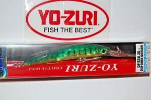 """yo zuri crystal 3d minnow joint deep diver 4 1/8"""" f1159-ht hot tiger fire"""