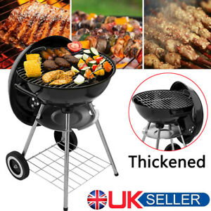 KETTLE BARBECUE BBQ GRILL OUTDOOR CHARCOAL PATIO COOKING PORTABLE ROUND BLACK