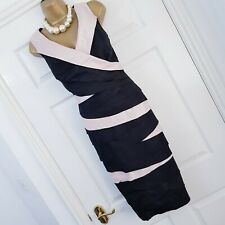 PLANET Dress Size 18 Black Gold Layered Occasion Evening party MOB Wedding Tier