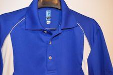Men's NWOT PGA Tour Short Sleeve Air Flux Golf Or Polo Shirt, Blue/White, Size S