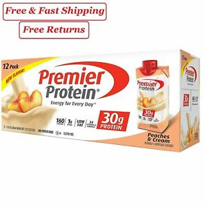 Premier Protein High Protein Shake, Peaches & Cream (11 fl. oz., 12 pk.)