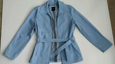 JLC New York Outerwear. Women's jacket coat. Small. Light Blue. Polyvinyl.