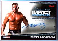 TNA Matt Morgan 2011 Signature Impact Silver Autograph Card SN 2 of 99