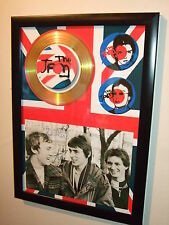 THE JAM  SIGNED  GOLD CD DISPLAY 6558