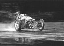 Morgan 3 wheeler original motor racing art