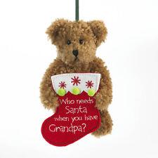 "1258 - Boyds Bear Christmas Ornament 2011 ~ ""Gramps"" ~ Grandpa ~ New"