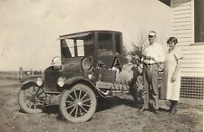 Vintage Real Photo- Model T Type Car- No Truck- Running Board Packed- Cute Girl