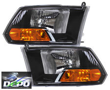 09-14 Dodge Ram 1500 Pickup Truck Black Head Lights OE Style SINGLE LAMP DEPO