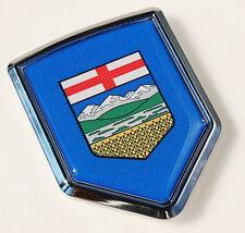 Alberta Canada Flag Car Chrome Emblem Decal Sticker