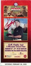 Fuzzy Zoeller Signed 2005 Outback Pro Am Pairings Guide