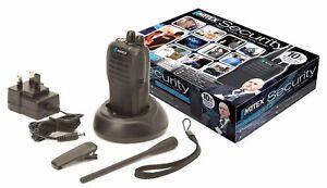 MITEX SECURITY SINGLE PACK UHF 5W LICENSED HANDHELD TWO WAY RADIO
