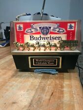 Budweiser Clydesdale Lighted Bar Sign