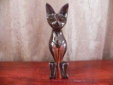 Huronia Pottery Sphynx Cat Black & Orange Made in Canada