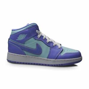 Juniors Nike Air Jordan 1 Mid (GS) - 554725 500 - Purple Pulse Arctic Punch
