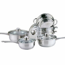 COOKWARE STEAMER SET STAINLESS STEEL SAUCEPAN PAN POT KITCHEN COOK SAUCE