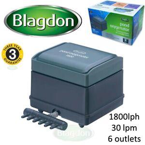 Blagdon 2020 Pond Oxygenator Compressed Air Pump Koi Hydroponics 1800lph 30lpm