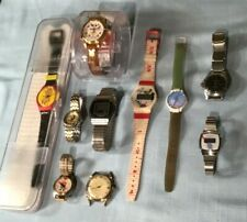 Large Collection Vintage Watches Swatch Mercury Bulova Lorus V-Mac Merrill Co