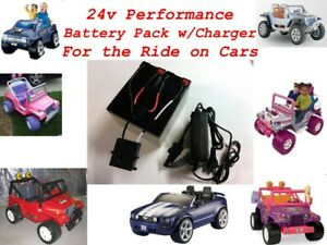 24V Conversion Kit UPGRADE for Ride on cars like Power Wheels (Battery/Charger)
