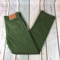 Levis 514 Jeans Slim Straight Green W30 L30