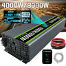 Pure Sine Wave Power Inverter 4000W 8000W 12V to AC 120V 60Hz LCD Remote Control