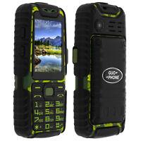 Téléphone portable standard militaire Étanche Double Sim - Guo-Phone A6 - Vert