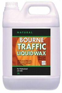 Johnsons Diversey Bourne Traffic Liquid Wax (Natural) 5L Wood Floor Polish