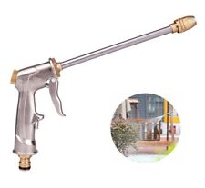High Pressure Water Spray Gun Brass Nozzle Garden Hose Pipe Lawn Car Wash Long U